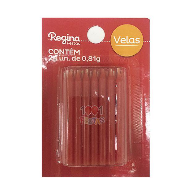 Vela Palito Vermelho C 24 unid Regina