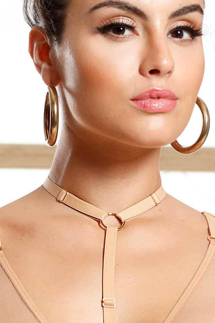 Choker Regulável Gold Chic
