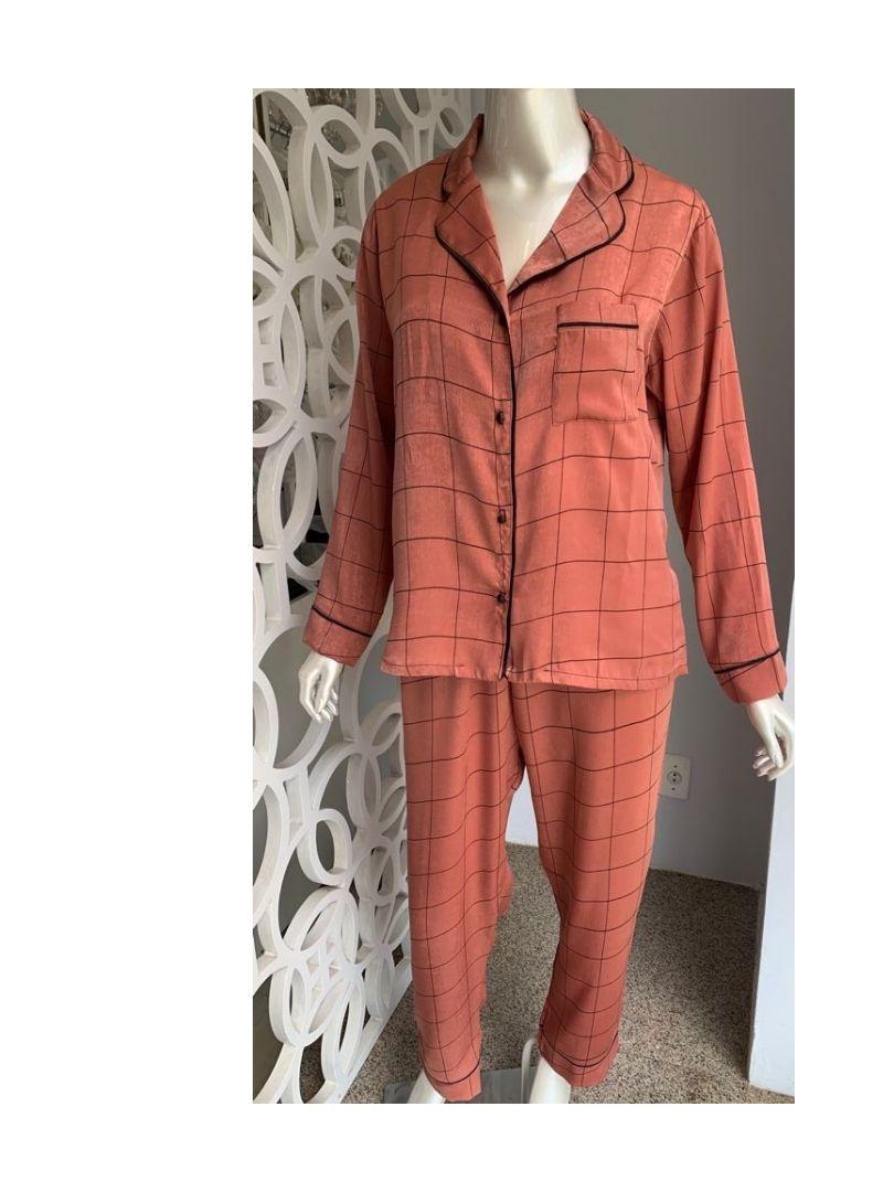 Pijama Comprido Manga Longa e Calça