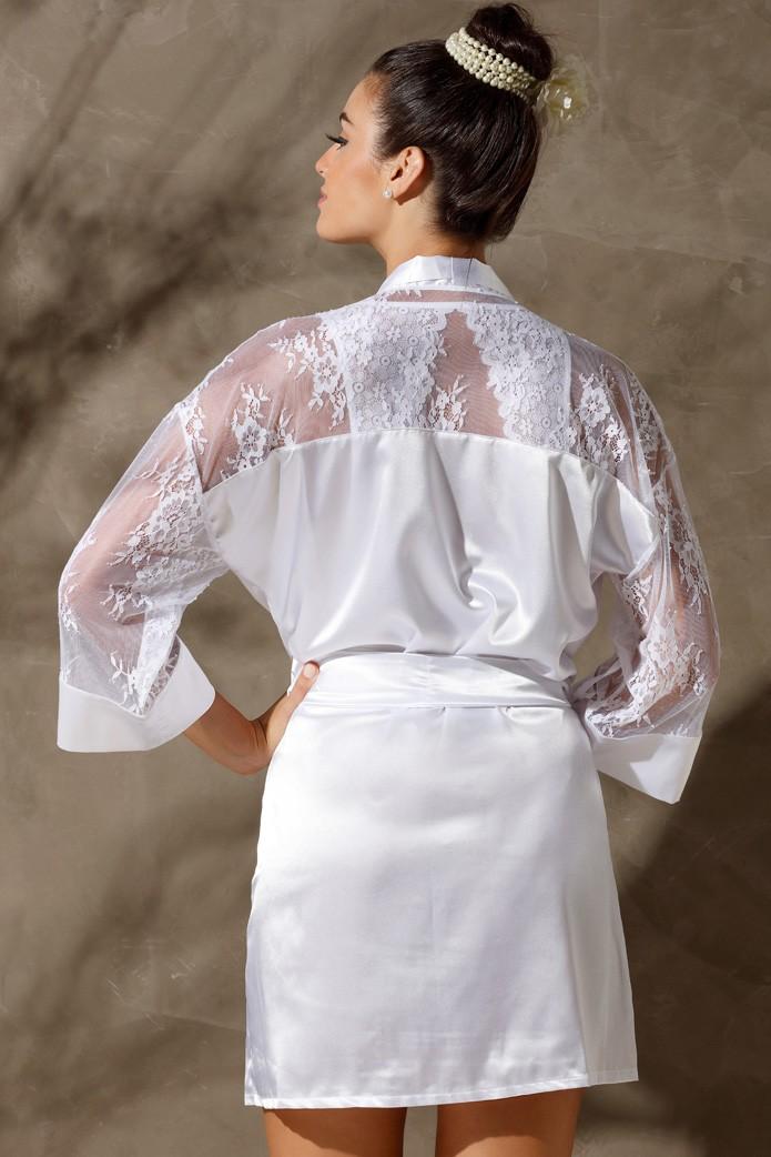 Robe em Cetim White Classic