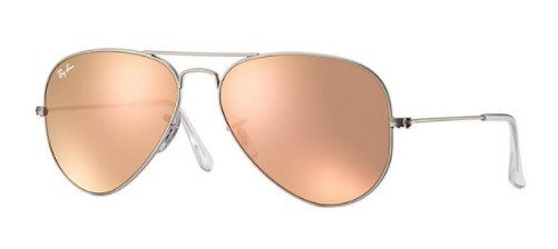 ÓCULOS DE SOL RAY-BAN FEMININO AVIATOR FLASH LENSES RB3025L 019/Z258 - cod interno 011003708 - RB3025L 019/Z258