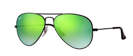 ÓCULOS DE SOL RAY-BAN UNISSEX AVIATOR FLASH LENSES GRADIENT RB3025L 002/4J 58 - cod interno 011004328 - RB3025L 002/4J 58