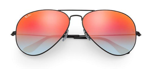 ÓCULOS DE SOL RAY-BAN UNISSEX AVIATOR FLASH LENSES GRADIENT RB3025L 002/4W 58-14 - cod interno 011003906 - RB3025L 002 4W58