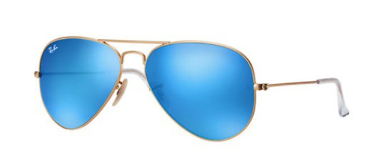 ÓCULOS DE SOL RAY-BAN UNISSEX AVIATOR FLASH LENSES RB3025L 112/1758 - cod interno 010004852 - 220099399