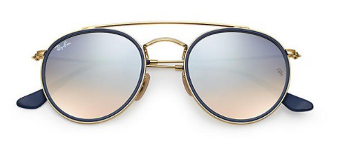 ÓCULOS DE SOL RAY-BAN UNISSEX ROUND DOUBLE BRIDGE RB3647N 001/9U51 - cod interno 011004515