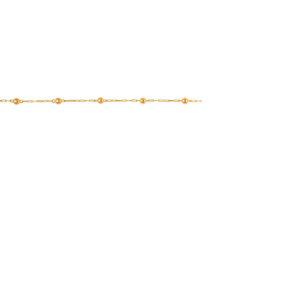 PULSEIRA BOLA 3MM INFANTIL EM OURO 18K - Cod 30008968
