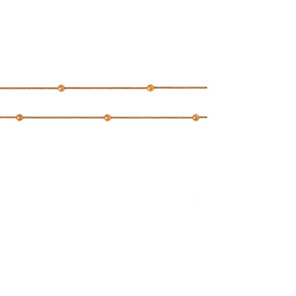 PULSEIRA VENEZIANA C/BOLINHA 2MM INFANTIL EM OURO 18K - Cod 30020784