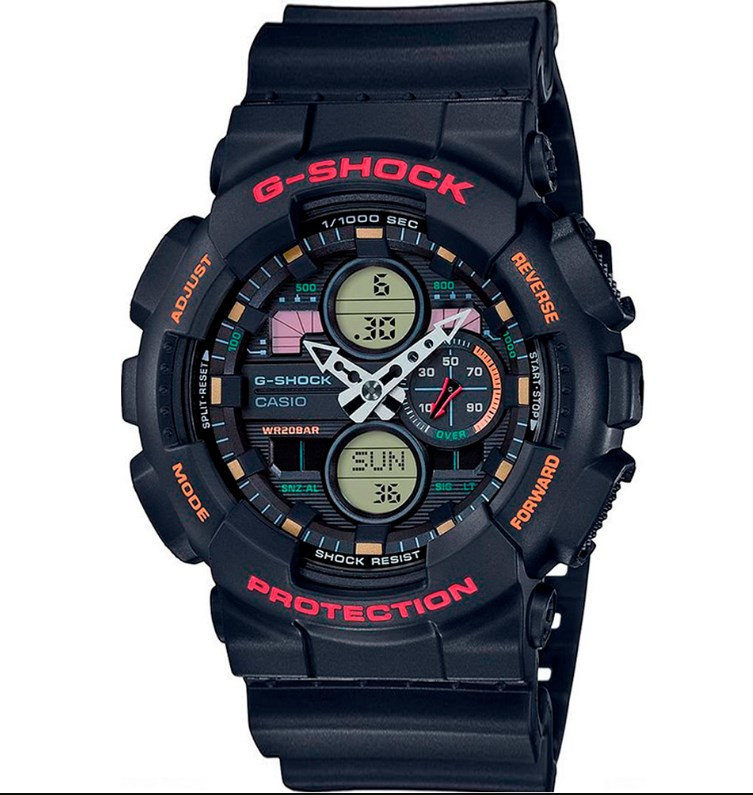 RELÓGIO CASIO MASCULINO G-SHOCK GA-140-1A4DR - COD 30028733