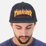 Boné Thrasher Snapback Flame