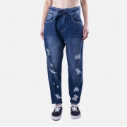 Calça Feminina Black Jeans Baggy