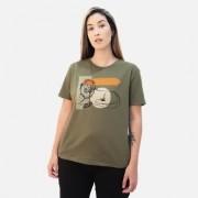 Camiseta Dzarm Manga Curta Em Malha Com Estampa