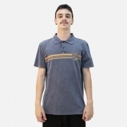 Camiseta Polo Mc Rip Curl Wave Panel Denim