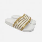 Chinelo Qix Dourado/Branco