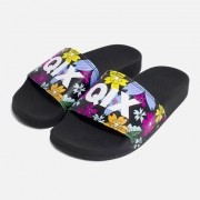 Chinelo Qix Floral/Bco/Pto