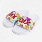 Chinelo Qix Floral/Bco/Ver/Bco