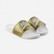 Chinelo Qix Missy Dourado/Branco
