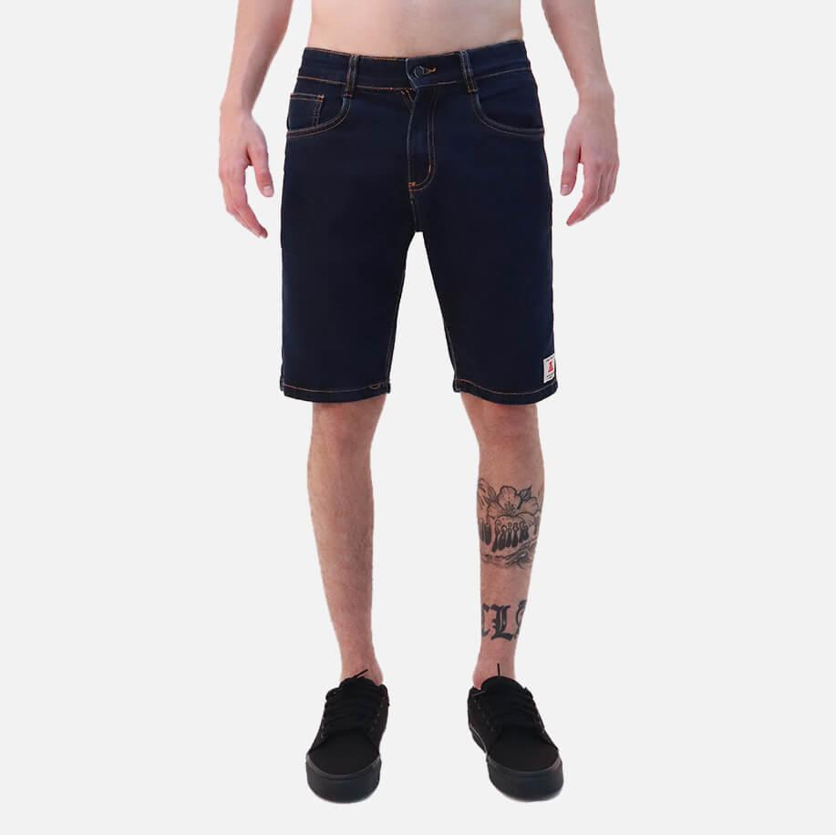 Bermuda Jeans Asphalt Blue