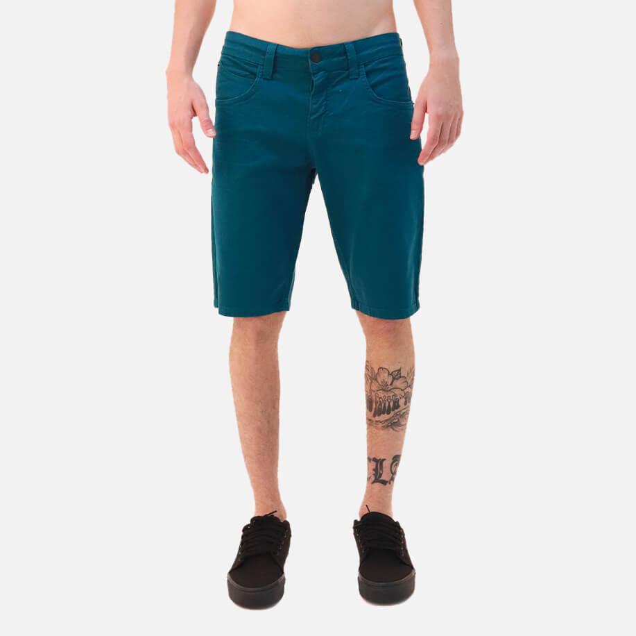 Bermuda Jeans Rip Curl Straight Color Dark Green