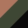 Marrom/Verde/Preto