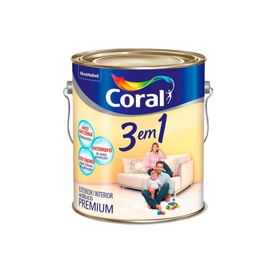 Base F Acrílica 3 em 1 3,2 litros Coral