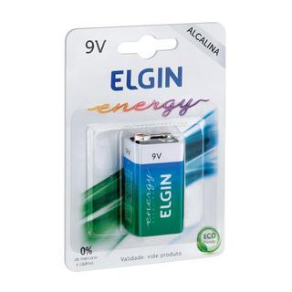 Bateria Alcalina 9V Blister com 1 Bateria Elgin