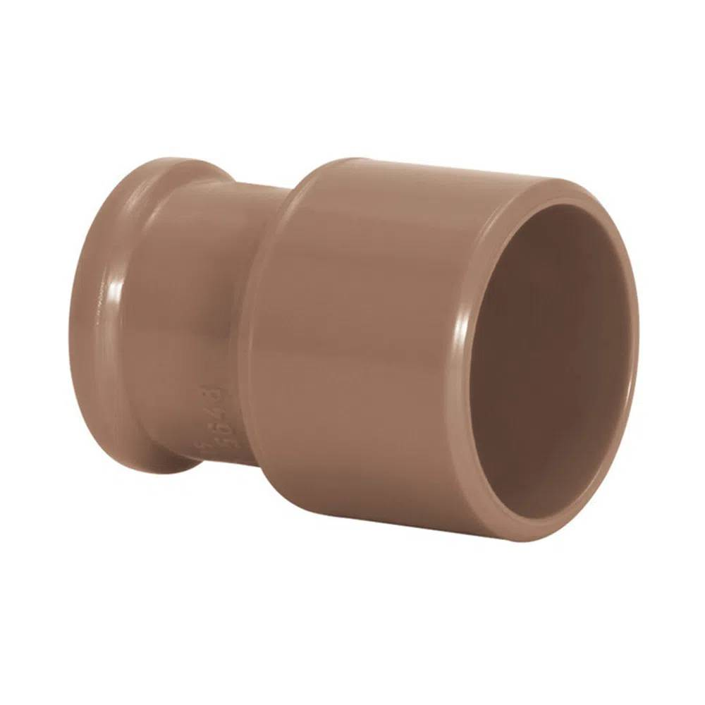 Bucha de Redução Longa Água Fria Soldável 40x20mm Marrom Amanco Wavin