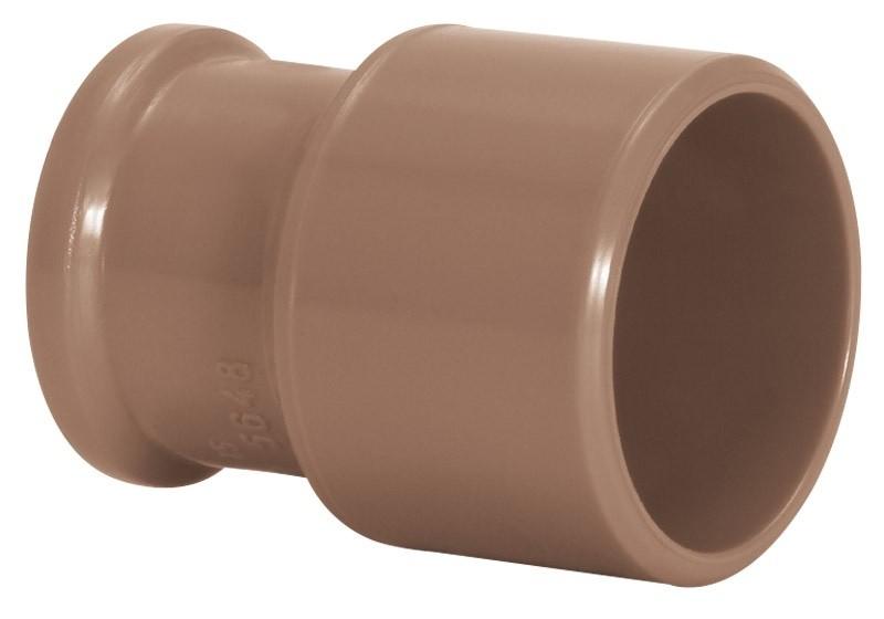 Bucha de Redução Longa Água Fria Soldável 50x20mm Marrom Amanco Wavin