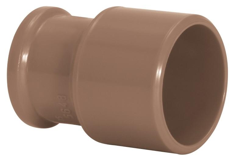 Bucha de Redução Longa Água Fria Soldável 50x32mm Marrom Amanco Wavin