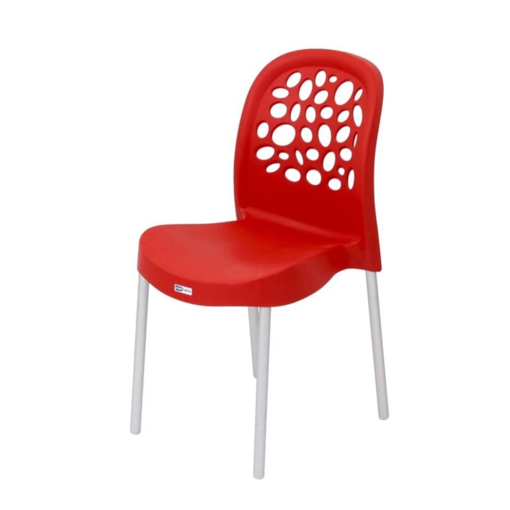 Cadeira Plástico Deluxe 86x43cm Vermelho Forte Plástico