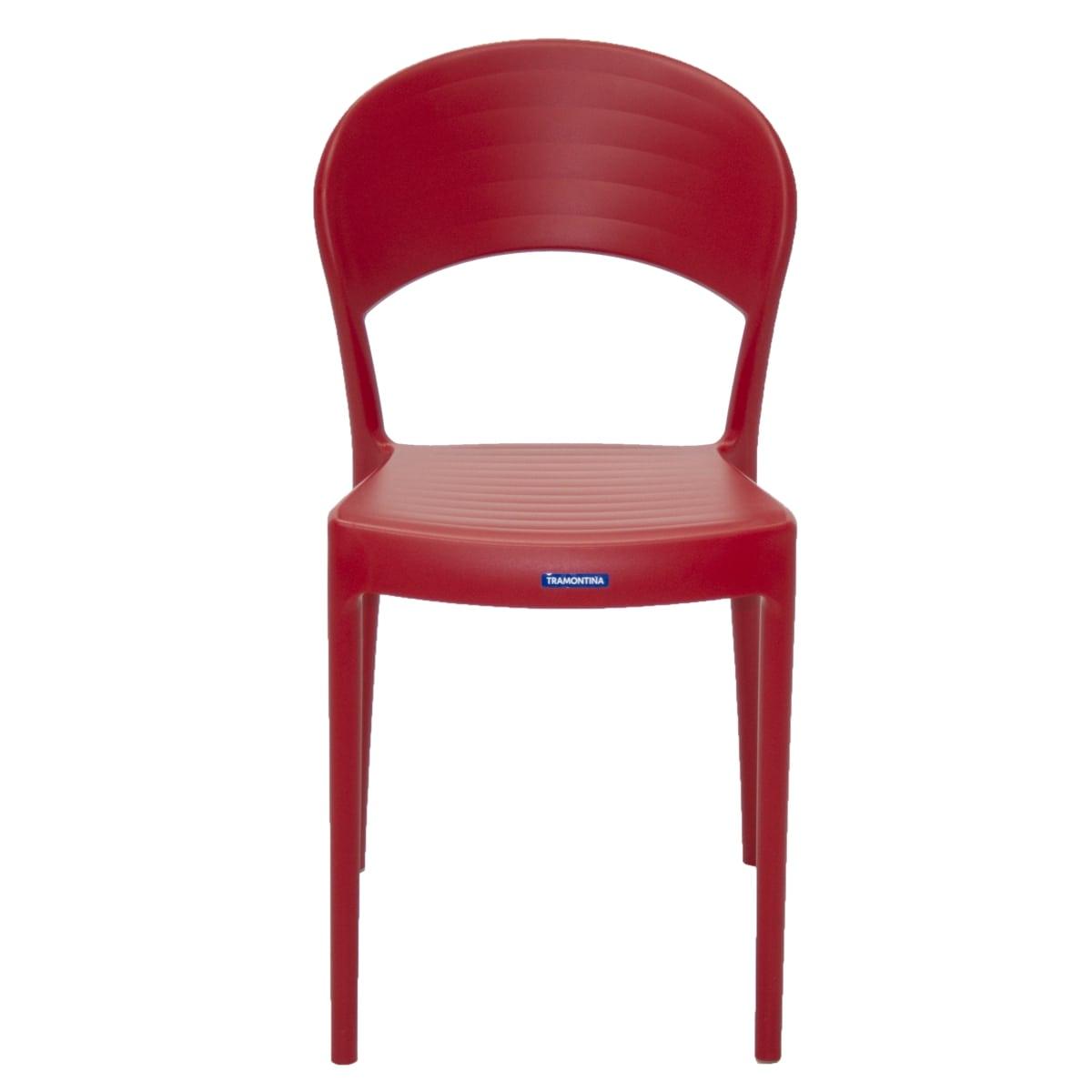 Cadeira Sissi sem Braço Encosto Fechado 92046 Vermelho Tramontina