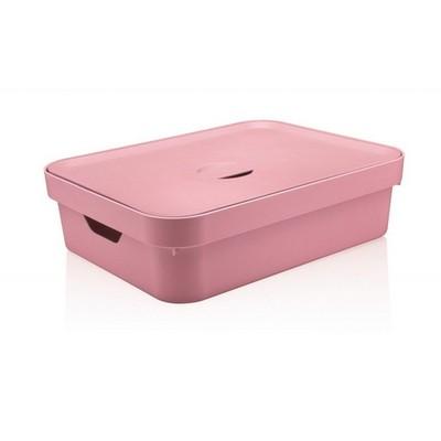 Caixa Organizadora Cube Grande Baixa Rosa Martiplast