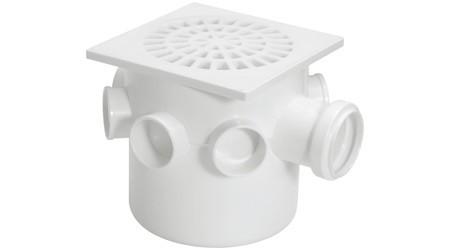 Caixa Sifonada Grande Quadrado Branco 150x150x50cm Amanco