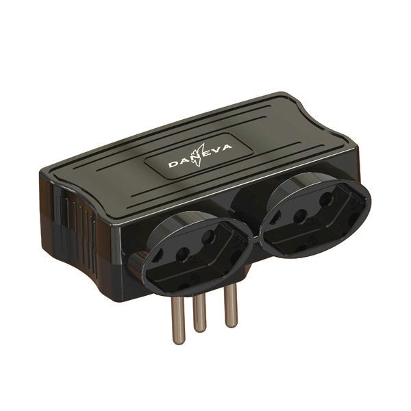 Carregador Multi 2 Entradas USB + 2 Tomadas Black Pial