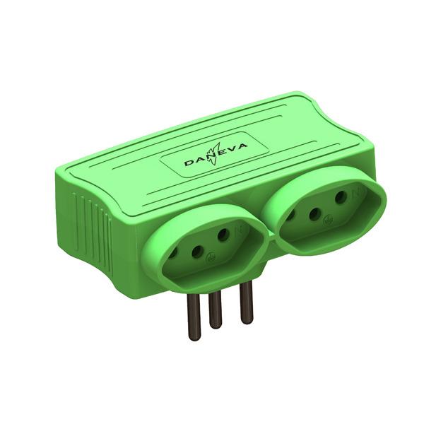Carregador Multi 2 Entradas USB + 2 Tomadas Green Pial