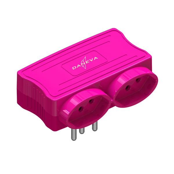 Carregador Multi 2 Entradas USB + 2 Tomadas Pink Pial