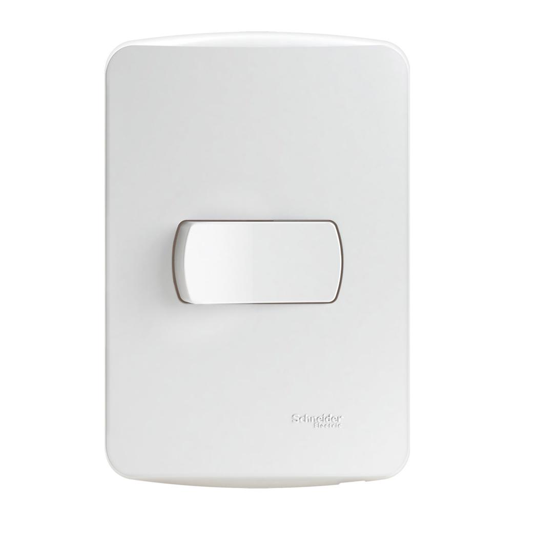 Conjunto Interruptor Simples 10A Miluz S3B62010 4x2 Branco Schneider