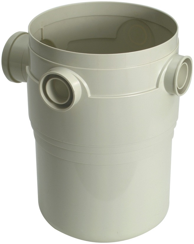 Corpo da Caixa de Gordura em PVC 300mm Amanco Wavin