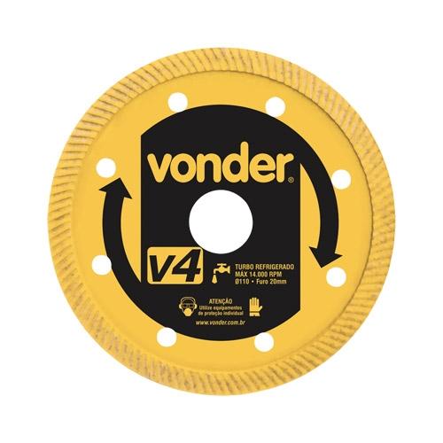 Disco de Corte Diamantado V4 110mm Vonder