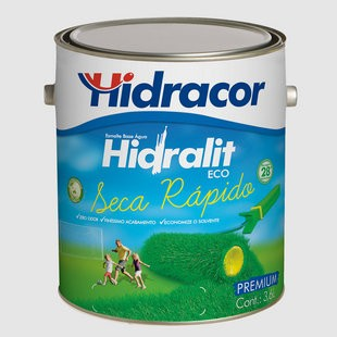 Esmalte Base Água Hidralit Eco 3,6 Litros Branco Hidracor