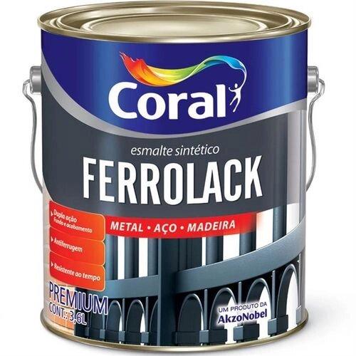 Esmalte Ferrolack 3,6 Litros Preto Coral