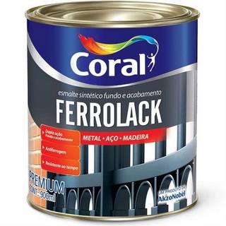 Esmalte Ferrolack 900ml Preto Coral