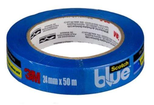 Fita Crepe Scotch Blue 2090 24mmx50m Azul 3M