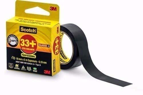 Fita Isolante Scotch 19x5m Preto 3M