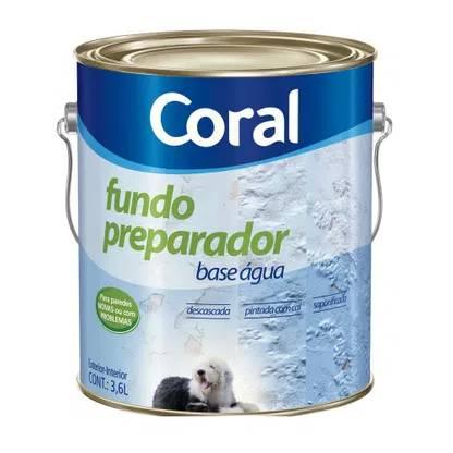 Fundo Preparador Base Água 3,6 Litros Coral