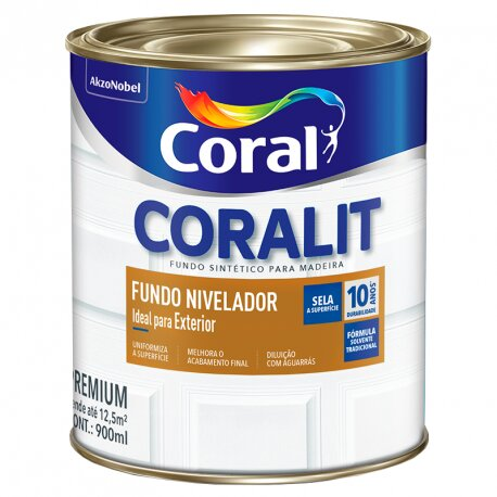 Fundo Sintético Nivelador Branco 0,9 Litros Coral