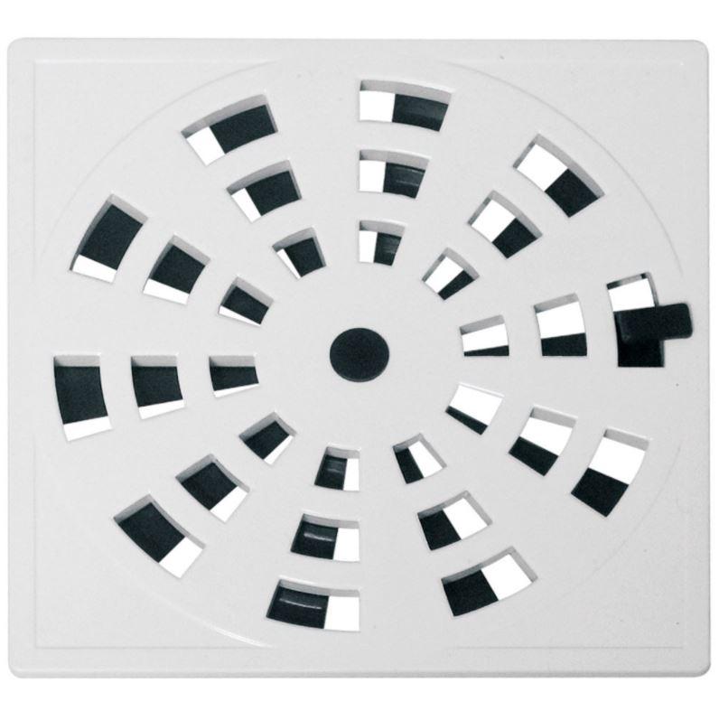 Grelha Quadrada GRB5 15cm Branco Astra