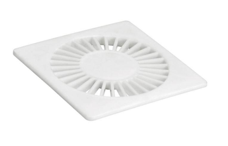 Grelha Quadrada Radial 150mm Branco Amanco