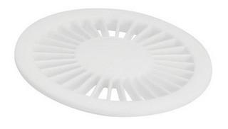 Grelha Redonda Radial para Caixa Sifonada e Ralo 100mm Branco Amanco