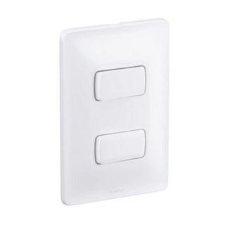 Interruptor 2 Paralelo 10A 680106 Zeffia Branco Pial