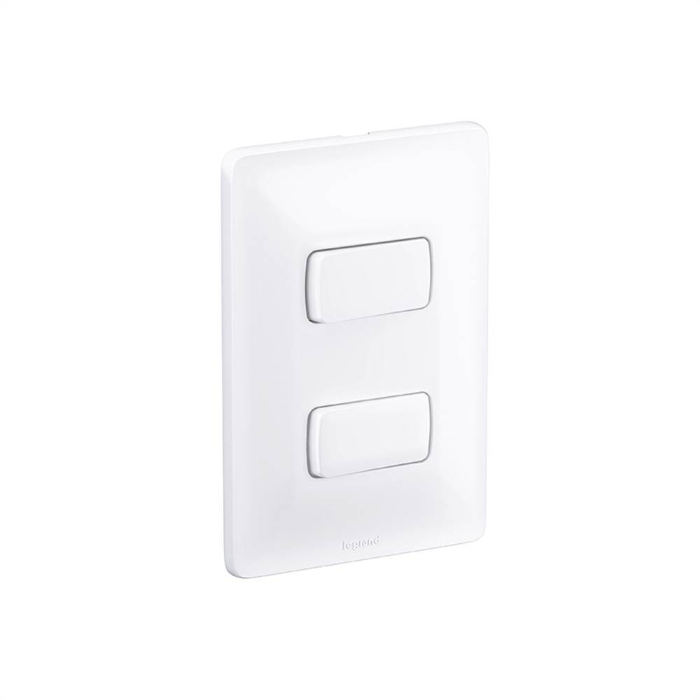 Interruptor 2 Simples 10A 680101 Zeffia 4x2 Branco Pial